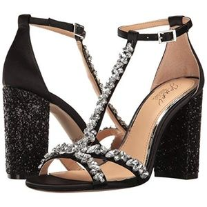 Badgley Mischka Carver Jewel Block Heel Sandal
